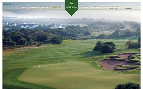 Screenshot of Products Page golfdata.co.za - Products | Golf Data - captured Sept. 30, 2014