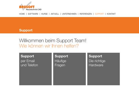 Screenshot of Support Page bausoft.ch - Support - captured Dec. 2, 2018