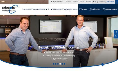 Screenshot of Home Page telecom-service.nl - Telecom Service Groep - captured Oct. 20, 2017
