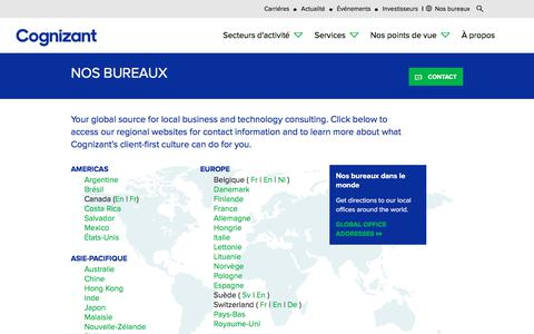 Screenshot of Locations Page cognizant.com - Bureaux de Cognizant | Cognizant France - captured Aug. 6, 2019