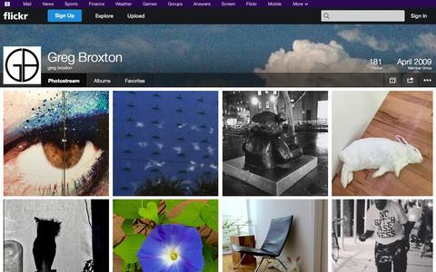 Screenshot of Flickr Page flickr.com - Flickr: greg broxton's Photostream - captured Oct. 23, 2014