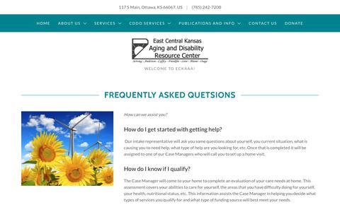 Screenshot of FAQ Page eckaaa.org - FAQ | ECKAAA - captured Sept. 26, 2018