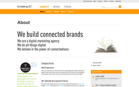 Screenshot of About Page icrossing.com - Interactive Agency: Interactive Marketing Agency   iCrossing - captured Sept. 12, 2014