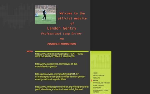 Screenshot of Press Page landongentryonline.com - Pounds It! Promotions - media - captured Oct. 1, 2014