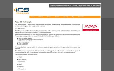 Screenshot of About Page icstech.com.au - Actually it's About You - ICS Technologies - captured Sept. 25, 2014
