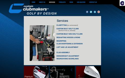 Screenshot of Services Page customclubmakersgolf.com - Custom Clubmakers » Services - captured Oct. 3, 2014