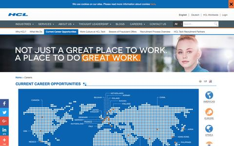 Career Opportunities and positions at HCL Technologies | HCL Technologies