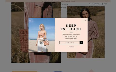 Screenshot of Home Page loefflerrandall.com - Loeffler Randall |  Official Store - Designer Shoes & Handbags - captured July 22, 2018