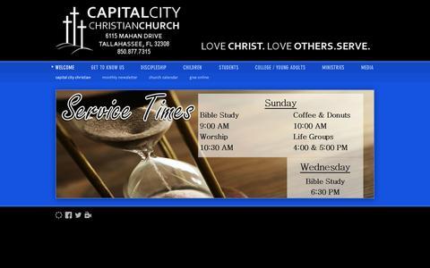 Screenshot of Home Page capitalcitychristianchurch.org - Capital City Christian / Welcome / Capital City Christian Church - captured Sept. 30, 2014