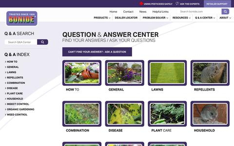 Screenshot of FAQ Page bonide.com - Question & Answer Center - Bonide - captured July 21, 2018