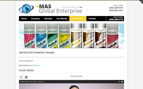 Screenshot of Case Studies Page masglobalenterprise.com - MAS Global Enterprise   –  Case Studies - captured Oct. 3, 2014