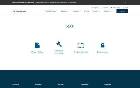 Legal | SiteMinder