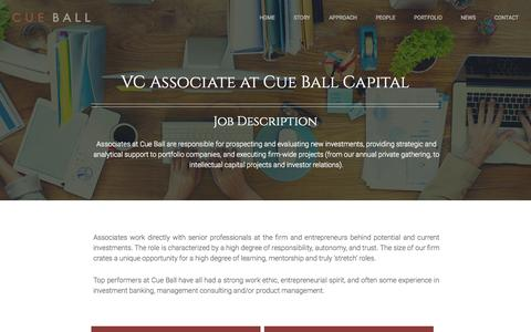 Screenshot of Jobs Page cueball.com - Cue Ball   –  Jobs - captured Sept. 26, 2015