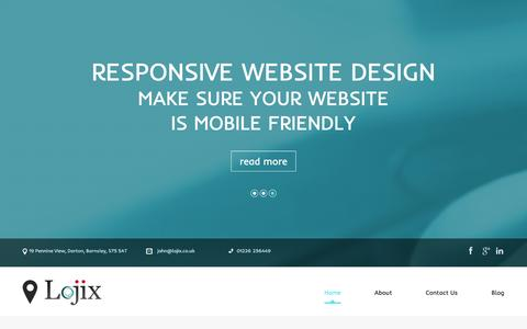 Screenshot of Home Page lojix.co.uk - Affordable SEO | Digital Marketing Agency | Lojix - captured Dec. 11, 2015