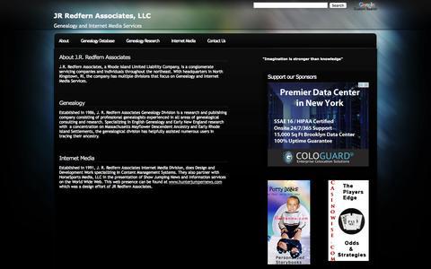 Screenshot of About Page jrredfern.com - JR Redfern Associates, LLC - captured Oct. 3, 2014