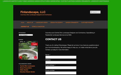 Screenshot of Contact Page finlandscape.com - CONTACT US | Finlandscape, LLCFinlandscape, LLC - captured Oct. 6, 2014