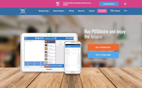 Screenshot of Trial Page posbistro.com - Demo   Mobile software for gastronomy - POSbistro - captured Dec. 6, 2017