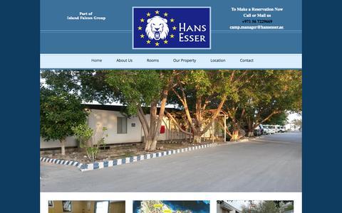 Screenshot of Home Page hansesser.ae - Hans Esser Village - Al Ruwais Camp - captured Sept. 27, 2014