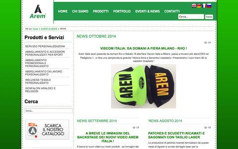 Screenshot of Press Page arem.it - NEWS - Arem Italia Srl - captured Nov. 2, 2014
