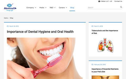 Screenshot of Blog mankindpharma.com - Blog - Mankind Pharma - captured July 11, 2019