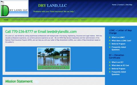 Screenshot of Home Page Site Map Page drylandllc.com - DryLand LLC Home Page - captured Aug. 2, 2016