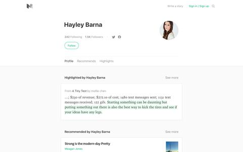 Hayley Barna – Medium