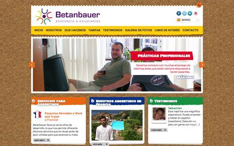 Screenshot of Home Page betanbauer.com - Betanbauer - Asistencia a Extranjeros - captured Feb. 7, 2016