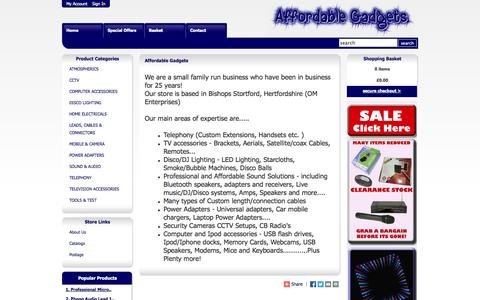 Screenshot of About Page affordablegadgets.com - Affordable Gadgets - About Us - captured Oct. 26, 2014