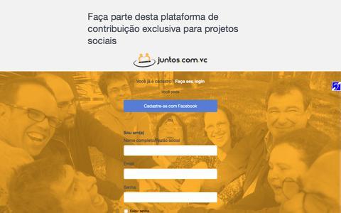 Screenshot of Signup Page juntos.com.vc - Cadastre-se - captured Oct. 16, 2017