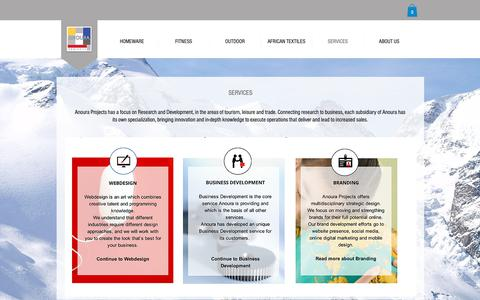 Screenshot of Services Page anoura.nl - webshop | SERVICES - captured Oct. 3, 2018