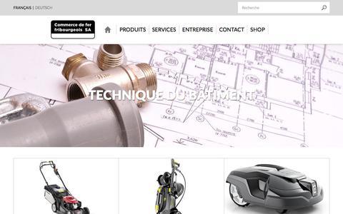 Screenshot of Home Page cdff.ch - Commerce de fer fribourgeois SA, votre partenaire pour la construction - captured Aug. 18, 2017