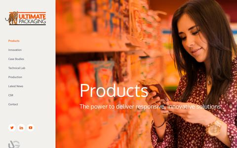 Screenshot of Products Page ultimate-packaging.co.uk - Products - Ultimate Packaging - captured Oct. 1, 2018