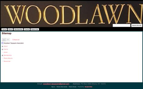 Screenshot of Site Map Page google.com - Sitemap - Woodlawn Taxpayers Association - captured May 4, 2018