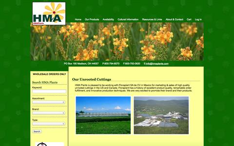 Screenshot of Home Page hmaplants.com - Horticultural Marketing Associates : Innovative, Quality Plants and Flowers - captured Sept. 26, 2014
