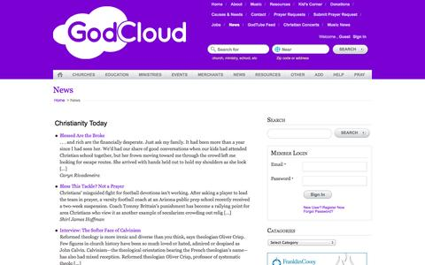 Screenshot of Press Page godcloud.org - News | God Cloud - captured Oct. 28, 2014