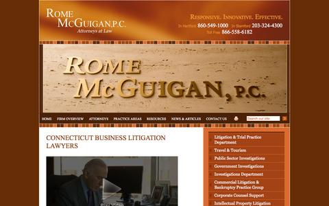 Screenshot of Home Page rms-law.com - Connecticut Business Litigation Attorney | Hartford Appellate Lawyer |   Family Law Firm - captured Oct. 7, 2014
