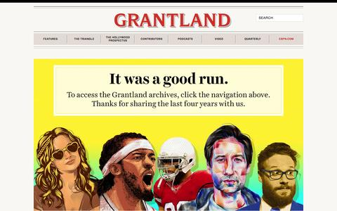 Screenshot of Home Page grantland.com - Sports and Pop Culture from our rotating cast of writers Đ Grantland Ç - captured Nov. 3, 2015