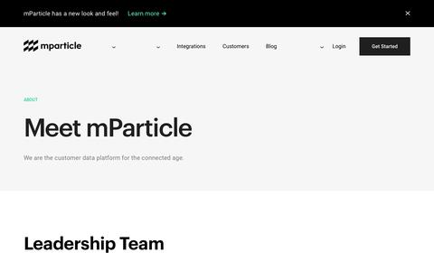 mParticle - About Us