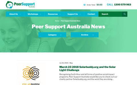 Screenshot of Blog peersupport.edu.au - Peer Support Australia News - Peer Support - captured Sept. 27, 2018