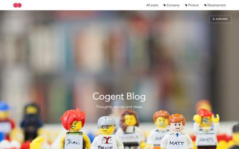 Screenshot of Blog cogent.co - Cogent Blog - captured Dec. 10, 2015