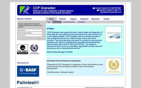 Screenshot of Testimonials Page ccp-gransden.com - Testimonials - CCP Gransden - captured Oct. 1, 2014