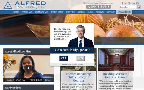 Screenshot of Blog alfredlawfirm.com - Blogs Archives | Alfred Law Firm, LLC - captured July 28, 2018