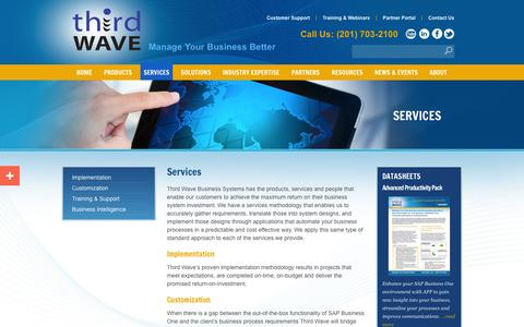 Screenshot of Services Page twbs.com - Third Wave's Business Management Services - captured Oct. 10, 2014