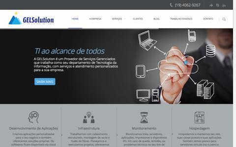 Screenshot of Home Page gelsolution.com.br - Home - GELSolutionGELSolution | TI ao alcance de todos - captured Sept. 26, 2014