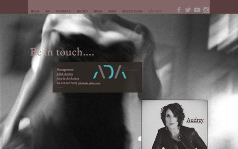 Screenshot of Contact Page audreybabcock.com - Audrey Babcock | CONTACT - captured Feb. 18, 2018