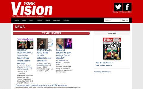 Screenshot of Press Page yorkvision.co.uk - News | York Vision - captured Jan. 17, 2016
