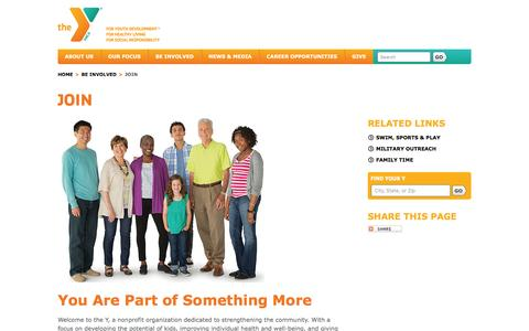 Screenshot of Signup Page ymca.net - the Y: Join - captured Dec. 1, 2015