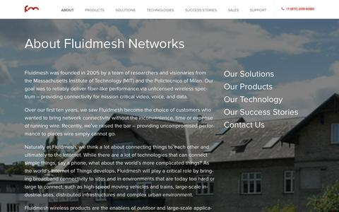 Screenshot of About Page fluidmesh.com - About | Fluidmesh - captured Oct. 6, 2014