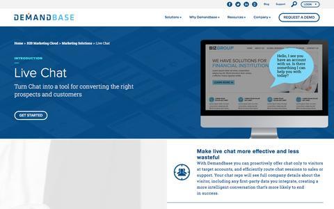 Live Chat Software Solution :: Demandbase
