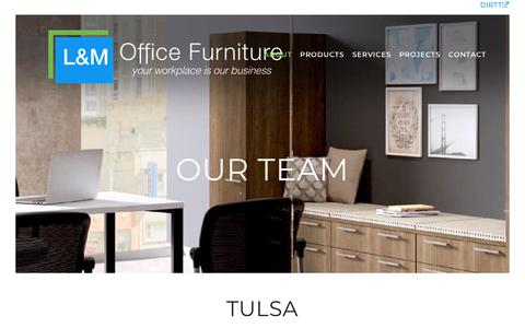 Screenshot of Team Page l-mofficefurn.com - Our Team - L&M Office Furniture - captured Sept. 25, 2018